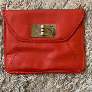 Apt 9 Orange Clutch/Shoulder Bag